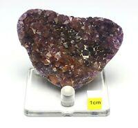 Rare Black Amethyst Heart Crystal Cluster - Healing Natural Quartz Mineral 146g