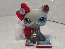 Littlest Pet Shop Custom Outfit RED Glitter Sparkle Heart NO CAT/DOG ADORABLE