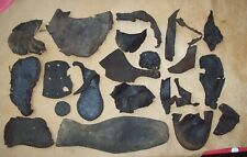Dug Huge Lot Medieval Leather Shoe Parts 1400's/1600's