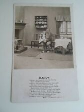 """OLD BAMFORTH Real Photo Postcard """"DADDY""""  Franked+Stamped 1906 §A2069"""