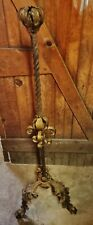 Antique Ornate Twist Wrought Iron Candle Stand floor lamp Gothic medieval