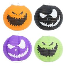 2 Pack Halloween Hanging Decoration Paper Lantern Creepy Pumpkin Face 19x20cm