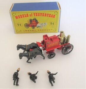 Lesney Models Of Yesteryear - Y4 - Shand Mason Horse Drawn Fire Engine - Boxed