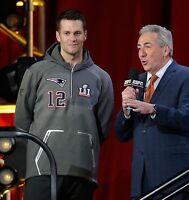 Nike New England Patriots Super Bowl 51 LI Tom Brady Media Night Hoodie Size 3XL