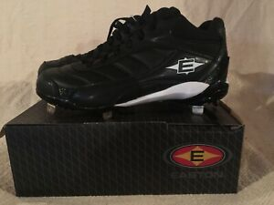 New in Box Easton Men's Assist Mid Black Baseball Cleats Size 7.5 # M33196