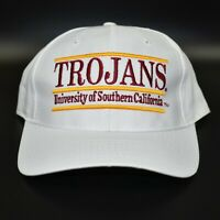USC Trojans NCAA The Game Split Bar Vintage 90's Adjustable Snapback Cap Hat