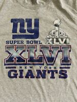 Reebok NFL New York Giants Super Bowl XLVI T-Shirt 2XL Football
