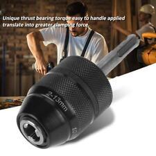 2~13mm Capacity Metal Keyless Lathe Drill Chuck Converter w/ SDS Adapter Black