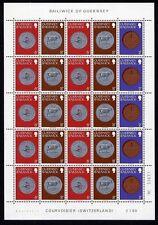 Guernsey ex W 32/7 ** Münzen Verkaufspackungsbogen