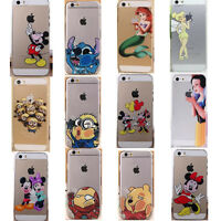 Cute New Transparent Cartoon protector phone case cover for iphone 4S 5 5S 5C 6