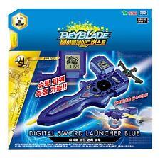 BEYBLADE BURST/ B-93 DIGITAL SWORD LAUNCHER BLUE Right & Left Spinning Toy