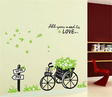 Plants flower vehicle Home bedroom Decor Removable Wall Sticker Decal Decoration