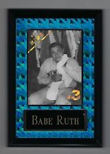 "Vintage 1990s 6.5"" x 4.5"" Card Plaque Babe Ruth NY New York Yankees"