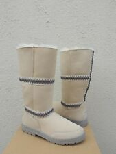 UGG ORIGINAL SUNDANCE TALL SAND SUEDE/ SHEEPSKIN BOOTS, US 7/ EUR 38 ~NEW
