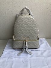Michael Kors 30S7GEZB1B Signature Rhea Zip Medium Backpack VANILLA
