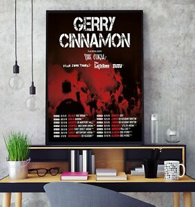 Gerry Cinnamon 2019 Tour Poster Professional Grade Gloss Photo Print Limited HD