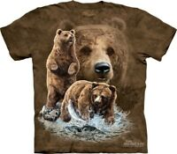 Find 10 Brown Bears T-Shirt by The Mountain. Hidden Images Tee Puzzle S-5XL NEW