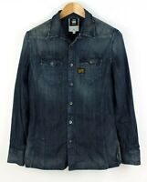 G-STAR RAW Men Midnight Denim Casual Shirt Size M ADZ115