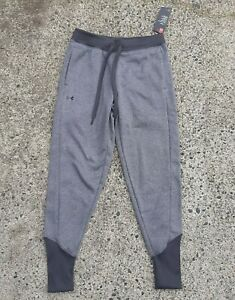 Under Armour Womens Size XS Grey ColdGear Fleece Tapered Jogger Sweat Pant