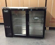 New 48 Back Bar Refrigerator Beer 2 Door Glass 4 Cooler New Bottle