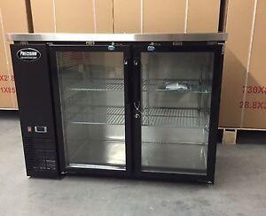 "New 48"" Back Bar Refrigerator Beer 2 Door Glass 4' Cooler New Bottle"