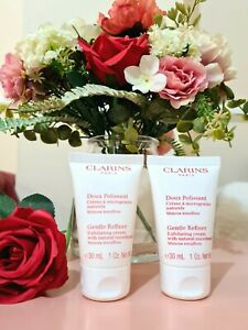 CLARINS Gentle Refiner Exfoliating Cream with Natural Microbeads 30ml x 2 🧡 NEW
