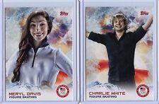 2014 Topps Winter Olympics #93 Charlie White & #21 Meryl Davis!!! Figure Skating