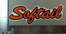 Harley-Davidson Softail Outside Window Sticker. Vintage Harley Sticker. Helmet?