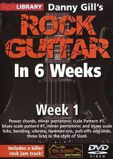 Lick Library Danny Gill's Rock Guitarra En 6 Semanas aprender a jugar Slash riffs Dvd 1