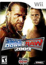 WWE SmackDown vs. Raw 2009 Featuring ECW (Nintendo Wii, 2008) Complete