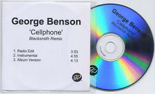 GEORGE BENSON Cellphone Blacksmith Remix UK 3-trk promo test CD radio / inst.