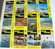 1968 AERO REVUE MAGAZINE COMPLETE SET 0F 12 aeroplanes airplanes aircraft flying