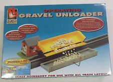 Life Like HO Operating Gravel Unloader with Side Dump Gondola Car 8307