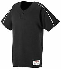 Wilson Baseball Jersey 1 Button Placket Textreme BLACK NEW Blank Adult Size M R4