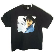 Clint Black Tour Concert 2-Sided Black T-Shirt Men's Size Xl