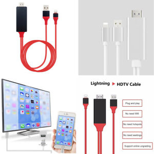 Plug & Play 1080p HDMI HDTV AV Adapter Cable For iPhone 5/6/7/8/X
