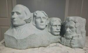 "Vintage Mount Rushmore Train Model Large Plaster Display 18"""
