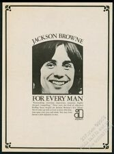 1973 Jackson Browne photo For Every Man album release vintage print ad