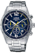 LORUS RT307FX-9,Men's Chronograph,QUARTZ,STAINLESS CASE,Brand New,50m WR