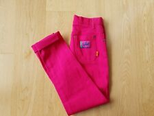Vintage Women's Jeans Pink High Waist Stretch Skinny Leg Fuchsia Retro Size 8