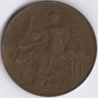1903 France 10 Centimes Coin | European Coins | Pennies2Pounds