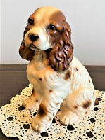 Hand-Painted Large Bisque Spaniel Figurine by House of Global Arts