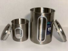Canister Set (2 Pc. Stainless Steel) USED, Good Condition