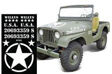 Set Army Sticker for Jeep TJ FJ Wrangler RUBICON USMC Military Decal lot part