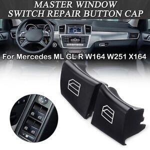 For Mercedes ML GL R W164 W251 X164 Driver Window Switch Repair Button Caps 2pcs