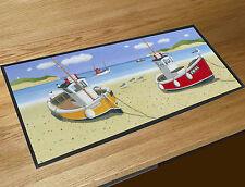 Martin Wiscombe Sailing Boats on the beach bar runner home bar counter mat