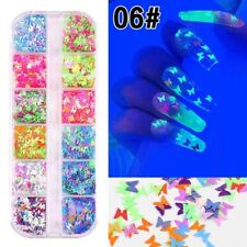 1 Set Butterfly Nail Art Sequins Holographic Glitter Flakes Paillette