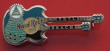 Hard Rock Cafe Metal Pin Badge Myrtle Beach USA American America Green Guitar