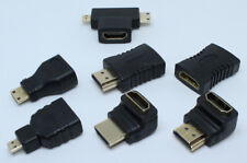 HDMI Adapter Set 7 Pieces Brand New HDMI 90 270 Degrees Micro Mini Male Female