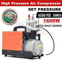 110V High Pressure Air Compressor Pump 30Mpa 4500psi Pressure Preset Autostop